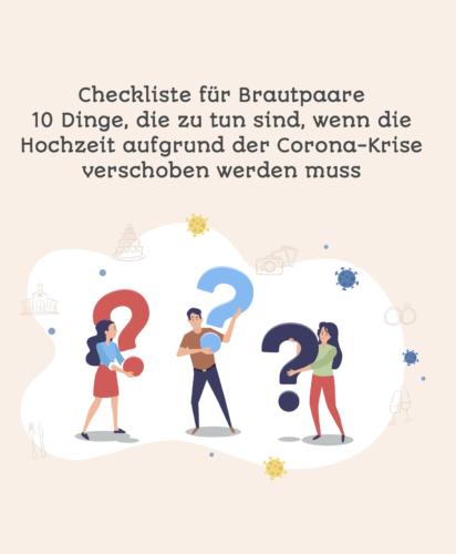 checkliste hochzeit verschieben corona